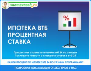 ВТБ 24: ипотека в 2018 году