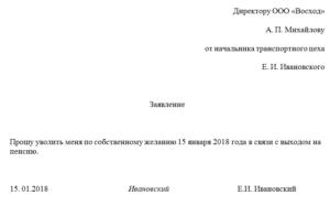 Заявление на увольнение по собственному желанию в 2018 году - образец, как правильно написать, без отработки