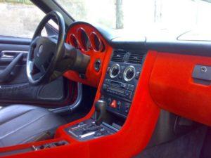Тюнинг салона авто по технологии флокинг